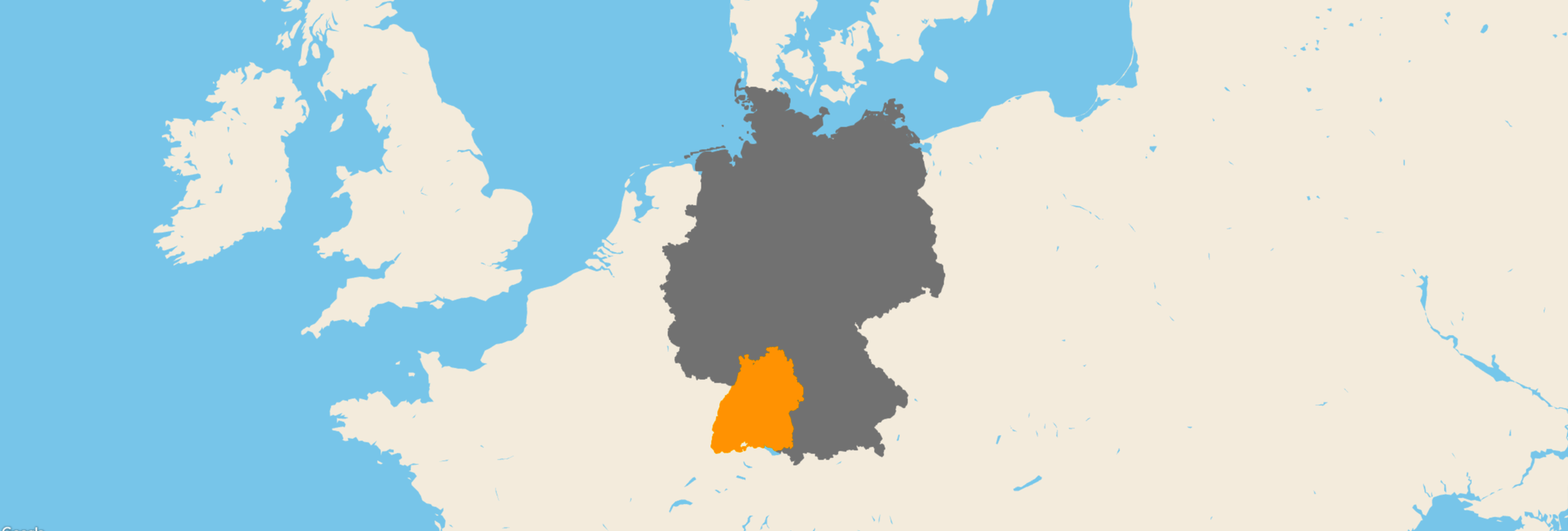 Baden-Württemberg kartenansicht