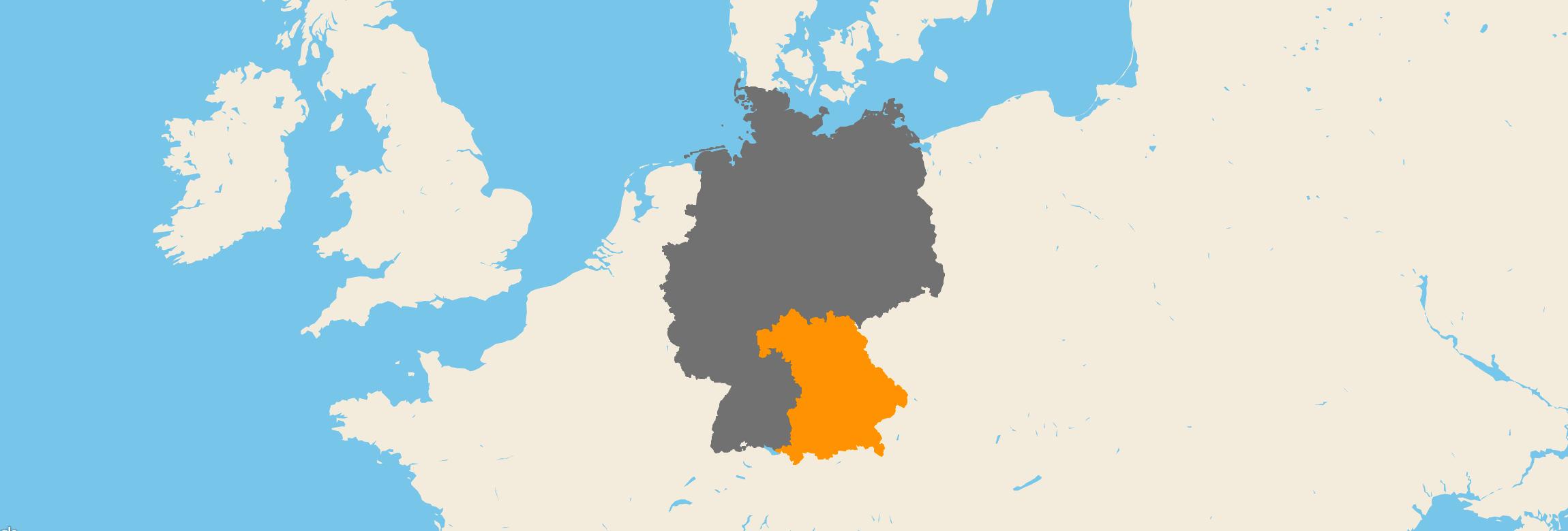 Bayern kartenansicht