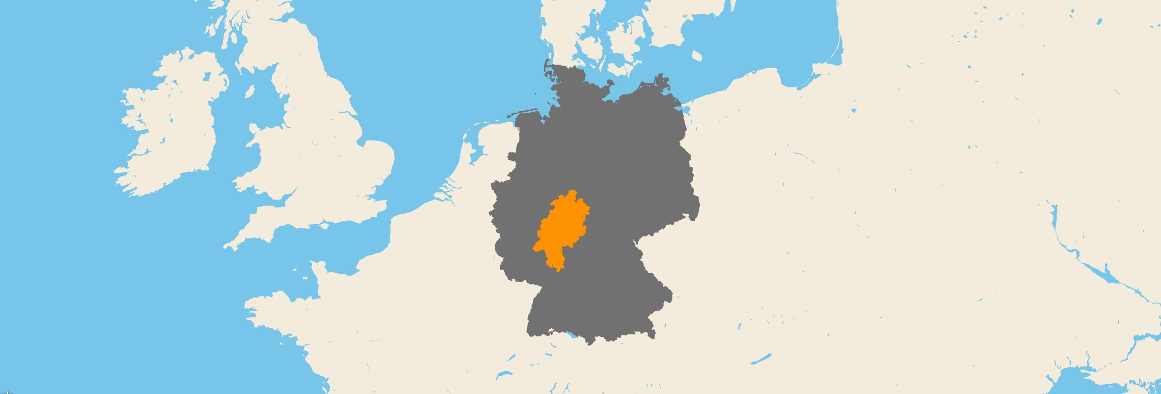 Hessen kartenansicht