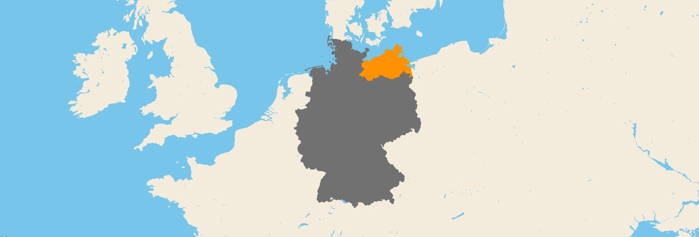Mecklenburg-Vorpommern kartenansicht