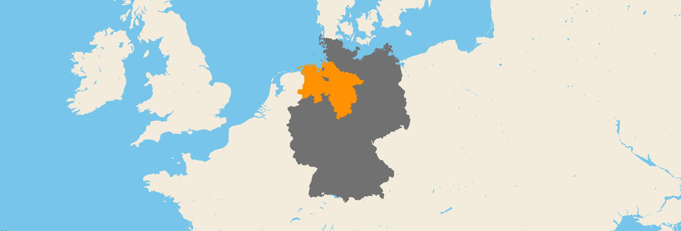 Niedersachsen kartenansicht
