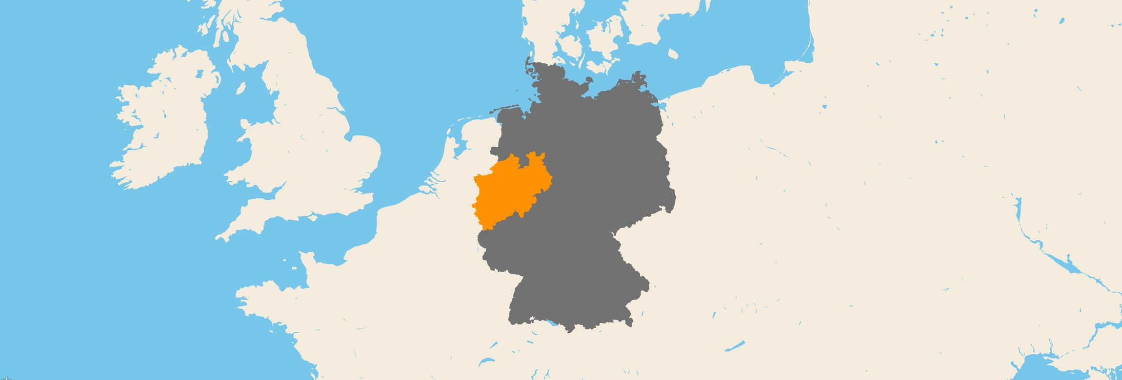Nordrhein-Westfalen kartenansicht