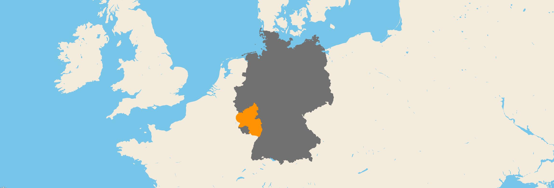 Rheinland-Pfalz kartenansicht