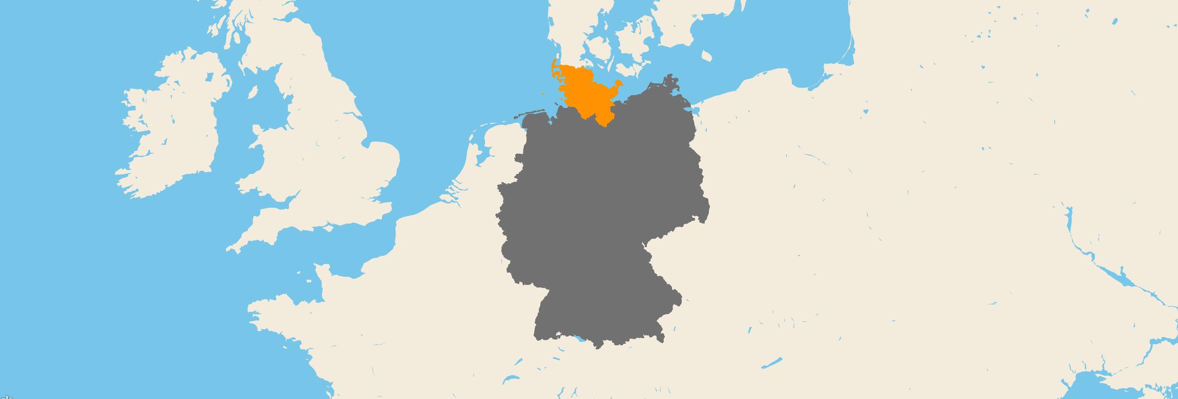 Schleswig-Holstein kartenansicht