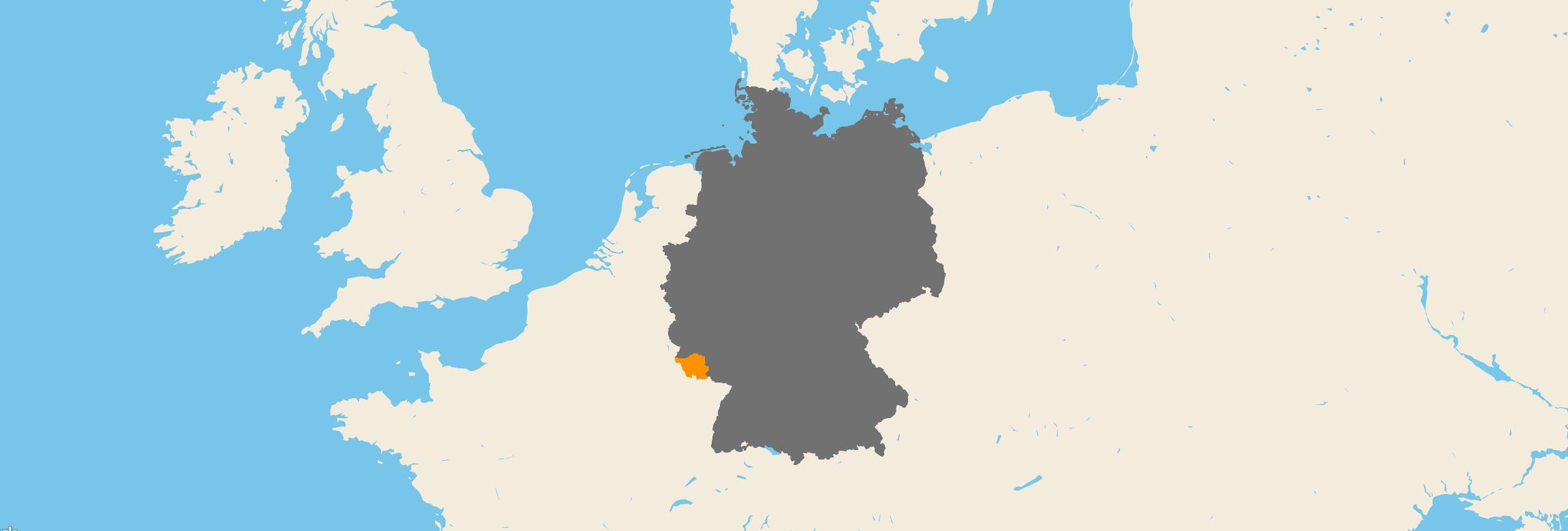 Saarland kartenansicht