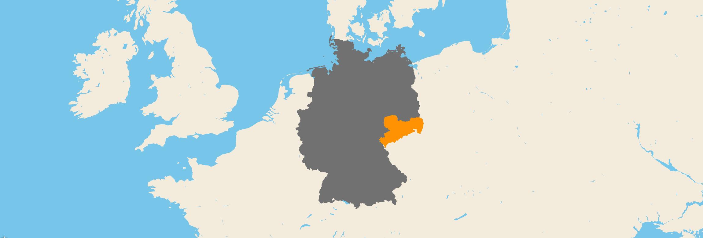 Sachsen kartenansicht