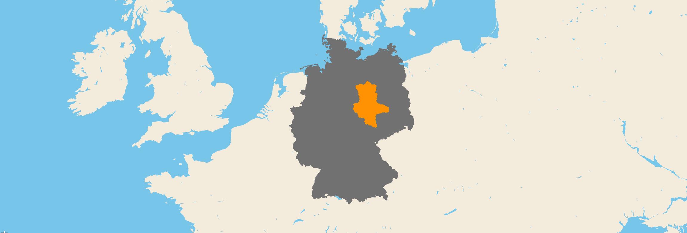 Sachsen-Anhalt kartenansicht