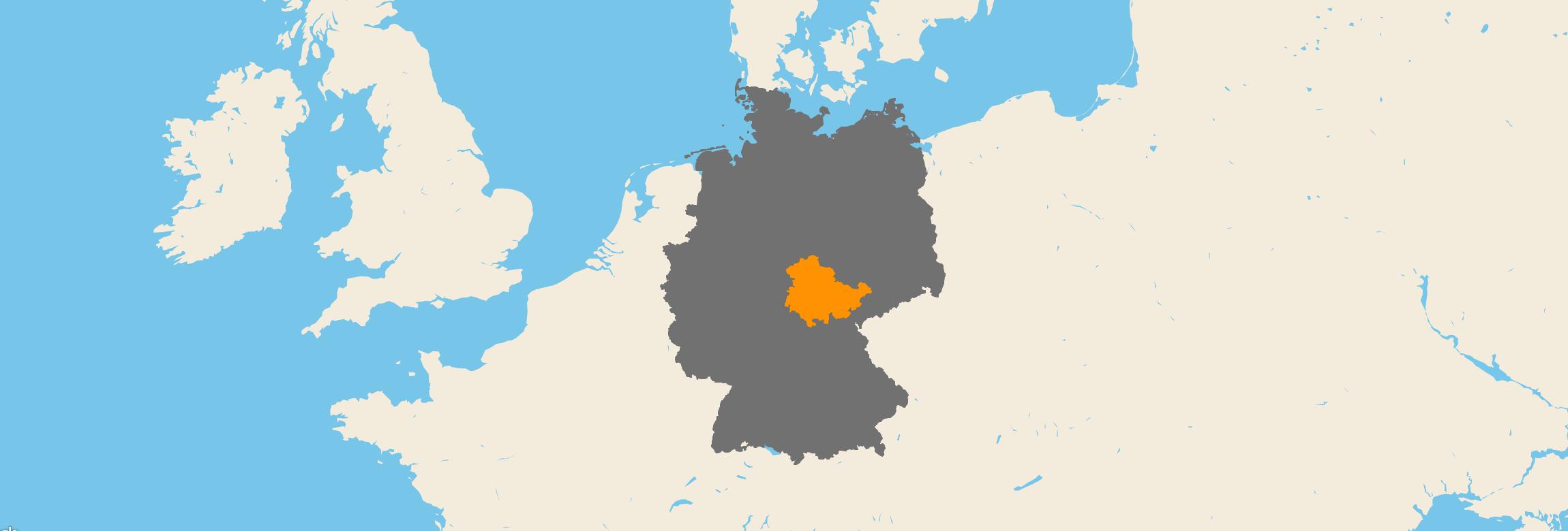 Thüringen kartenansicht